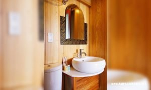 Bathroom oriental sails