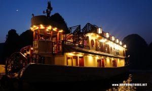 Oriental sails at night