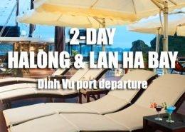 2 days tour to Halong bay, Lan Ha bay departing from Dinh Vu port Hai Phong