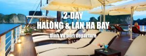 2 days tour to Halong bay, Lan Ha bay departing from Dinh Vu port Hai Phong