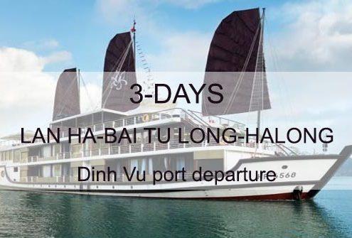 3 days tour to Halong, Bai Tu Long, Lan Ha bay departing from Dinh Vu port Hai Phong