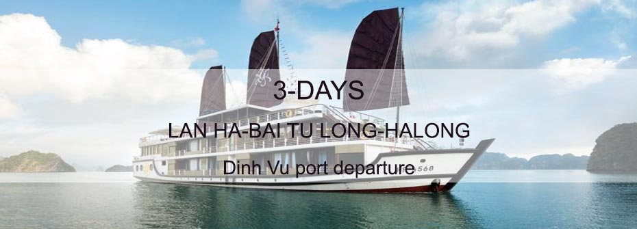 3 days tour to Halong, Bai Tu Long, Lan Ha bay departing from Dinh Vu port Hai Phong