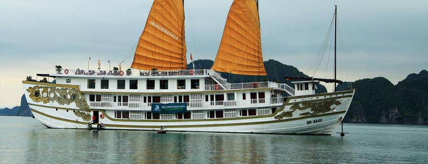 Indochina Sails cruise tour pick up from Hai Phong