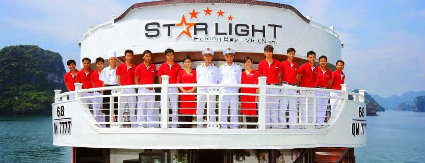 Starlight cruise tour pick up from Hai Phong
