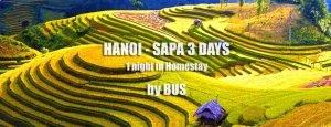 Hanoi Sapa bus tour 3 days 2 nights pick up in Hanoi