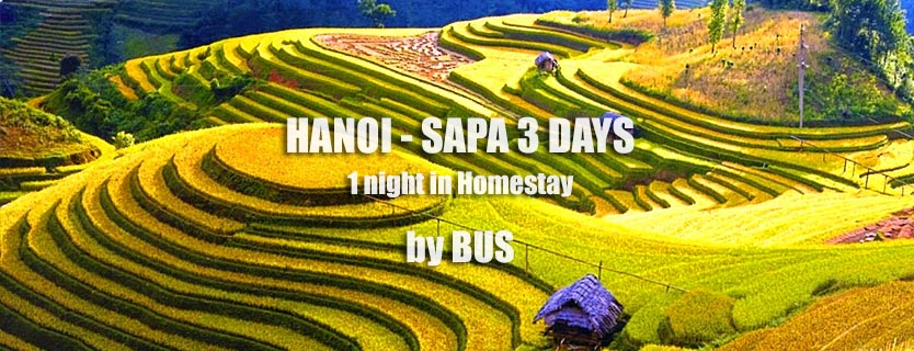 Hanoi Sapa bus tour 3 days 2 nights pick up in Hanoi