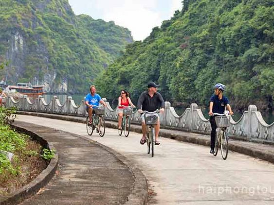 Cycling Hai Phong Azalea Cruises