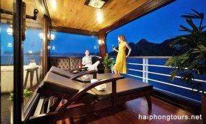 Grand suite balcony perla dawn