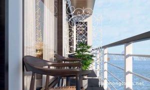 Hai Phong Perla Dawn Sails balcony