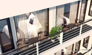 Hai Phong Perla Dawn Sails private balcony