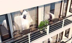 Hai Phong Perla Dawn Sails private balcony