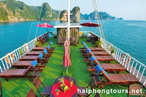 Sundeck view Halong Grayline Cruise