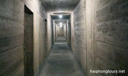 Corridor in Hospital cave Cat Ba island