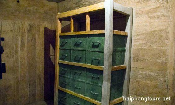 Doccument storage in Hospital cave Cat Ba island