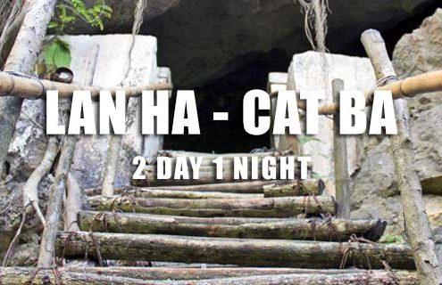 Lan Ha Bay Cat Ba island 2 day tour Hai Phong departure