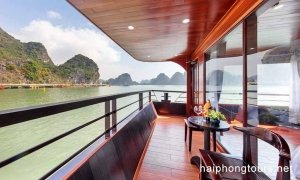 Balcony in Premium suite balcony room Hai Phong Vspirit Premier Cruise