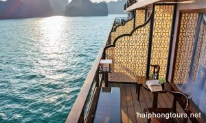 Balcony in Prestige suite Hai Phong Vspirit Premier Cruise