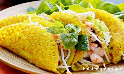 Banh xeo Hanoi street food tour