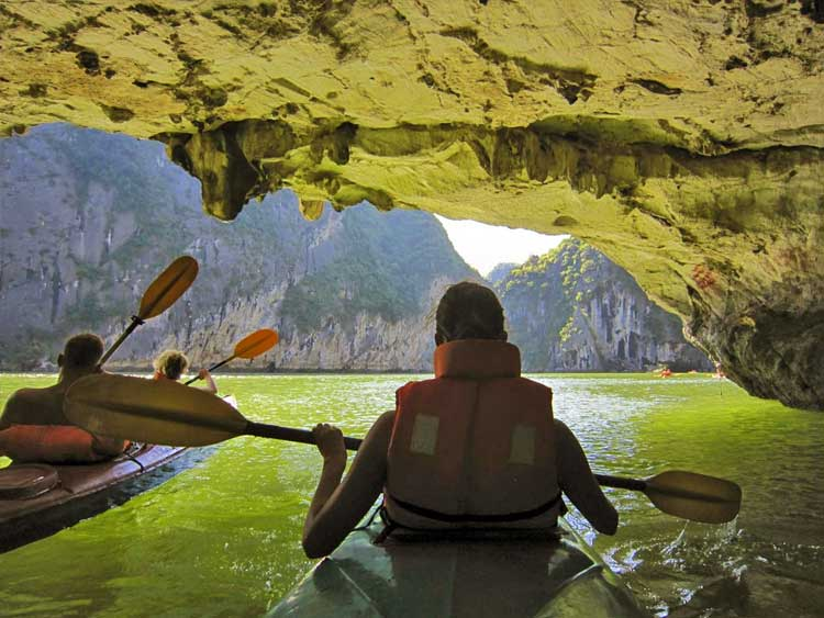 Fairy cave Halong bay