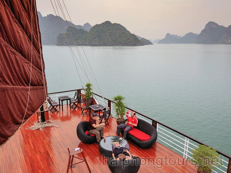 Sundeck on Lan Ha Bay
