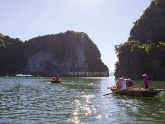 bamboo boat trip from vung vieng