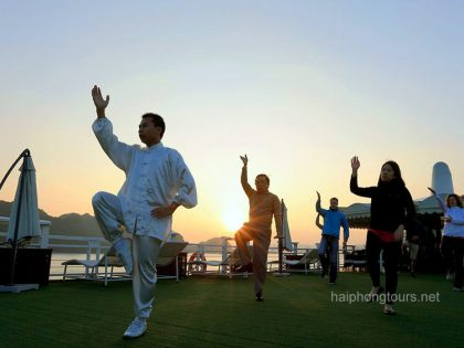 morning taichi exercise