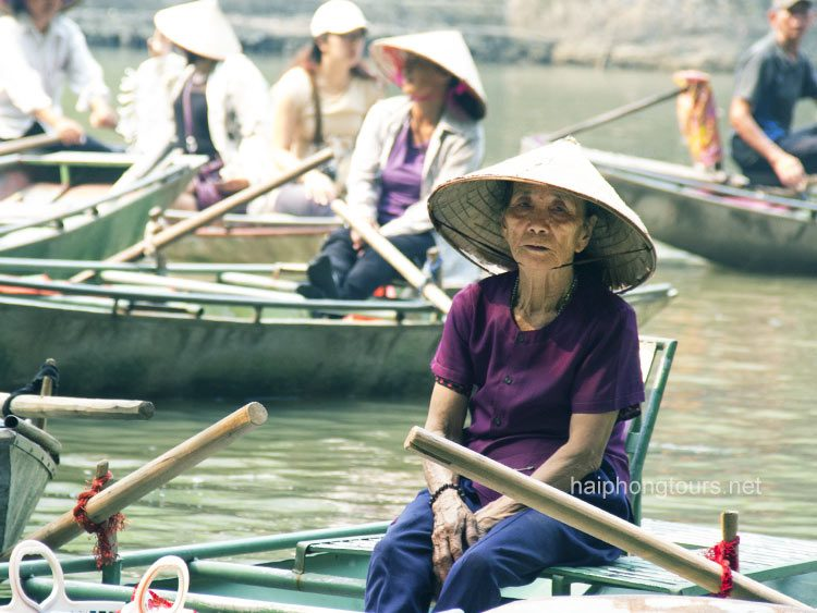 resting moment after tam coc boat trip