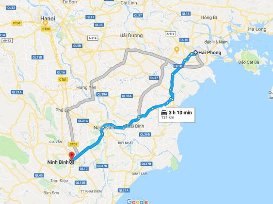 Transportation from Hai Phong to Ninh Binh