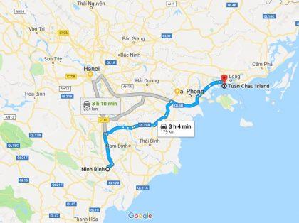 Transportation from Halong to Ninh Binh
