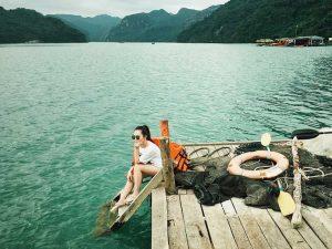 crystal water around tra bau fishing village
