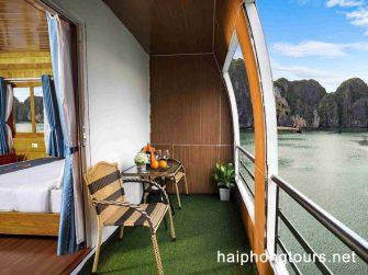 Private balcony in La Paci cruise